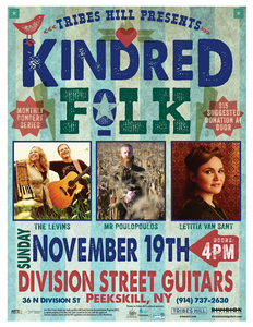TRIBES HILL PRESENTS KINDRED FOLK at Division Street Guitars with The Levins Letitia Van Sant MR Poulopoulos