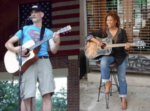 Curtis Becraft with Carla Lynne Hall at the MMNY Porch Stomp