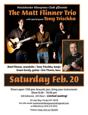 Matt Flinner Trio with special guest Tony Trischka