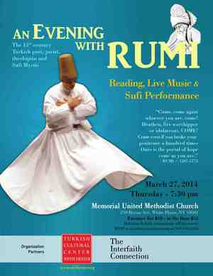 AN EVENING WITH RUMI POETRY READINGS LIVE SUFI MUSIC AND WHIRLING DERVISHES