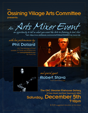 Phil Dollard performs at the Steamer Fire House Gallery