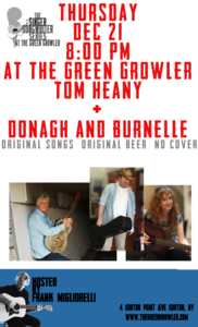 Singer Songwriter Series at The Green GrowlerTom Heany and Donagh and Burnelle