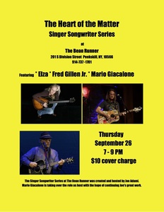 Heart of the Matter Songwriter Series Featuring Elza Mario Giacalone and Fred Gillen Jr in the round