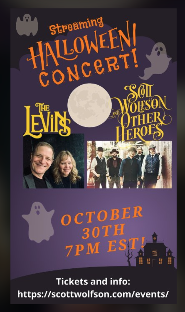 Streaming Halloween Concert  Saturday October 30th