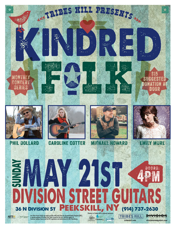 TRIBES HILL PRESENTS KINDRED FOLK at Division Street Guitars