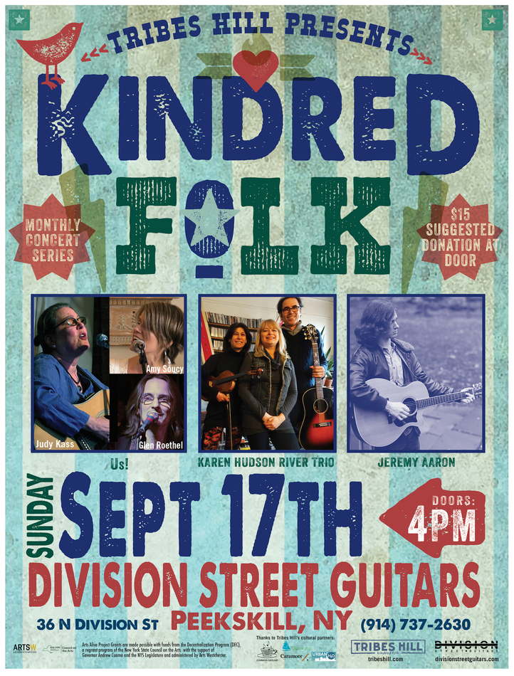 Tribes Hill Presents Kindred Folk  Sunday Sept 17th at Division Street Guitars