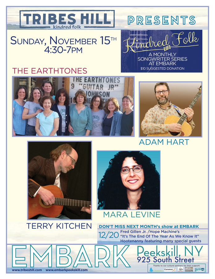 Tribes Hill Presents at Embark Peekskill Sunday November 15th