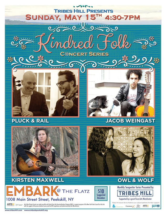 Tribes Hill Presents Kindred Folk at Embark  Sunday May 15th