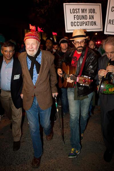At 92 Pete Seeger is One of the Ninety Nine Percent039s Strongest Voices at Occupy Wall Street Rally